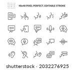 simple set of voice related... | Shutterstock .eps vector #2032276925