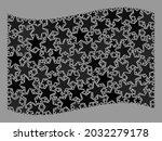 mosaic waving black flag... | Shutterstock .eps vector #2032279178