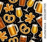 vector oktoberfest seamless... | Shutterstock .eps vector #2032289705
