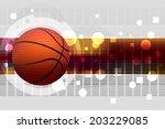 basketball | Shutterstock .eps vector #203229085