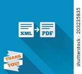 export xml to pdf icon. file... | Shutterstock .eps vector #203235835