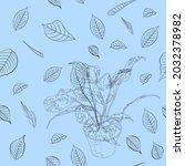 beautiful endless gentle floral ...   Shutterstock .eps vector #2032378982