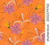 beautiful endless gentle floral ...   Shutterstock .eps vector #2032379702