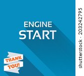 start engine sign icon. power...   Shutterstock .eps vector #203242795