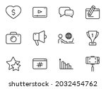 blog line vector icons isolated ...