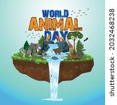the life cycle of animals.... | Shutterstock .eps vector #2032468238