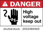 high voltage keep out danger... | Shutterstock .eps vector #2032484465