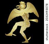 ancient greek man actor dancing ... | Shutterstock .eps vector #2032493078