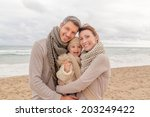 happy family with child... | Shutterstock . vector #203249422