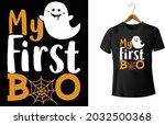 my first boo shirt  my first... | Shutterstock .eps vector #2032500368