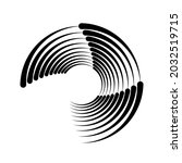 black concentric stripes in...   Shutterstock .eps vector #2032519715