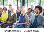 group of diverse multiethnic... | Shutterstock . vector #203255032