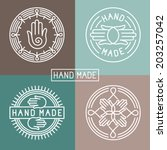Vector Hand Made Label In...