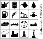 oil icons set | Shutterstock .eps vector #203258695