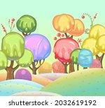 candy background. cartoon sweet ... | Shutterstock .eps vector #2032619192