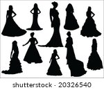 bride silhouette collection | Shutterstock .eps vector #20326540