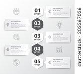 vector infographic timeline... | Shutterstock .eps vector #203267026