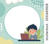 template for advertising... | Shutterstock .eps vector #2032685828