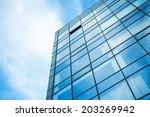 modern office building wall...   Shutterstock . vector #203269942