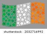 mosaic waving ireland flag... | Shutterstock .eps vector #2032716992