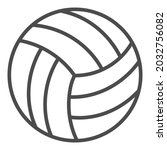 volleyball outline icon. simple ...