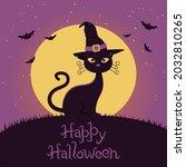 Banner For Halloween Cat In Hat ...
