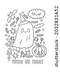 halloween coloring page for... | Shutterstock .eps vector #2032831652