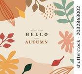 autumn shopping event... | Shutterstock .eps vector #2032863002