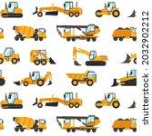 Heavy Trucks Pattern. Seamless...