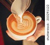 latte art coffee | Shutterstock . vector #203291122