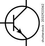 transistor symbol vector.... | Shutterstock .eps vector #2032923362