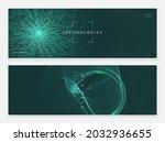 deep learning concept. digital... | Shutterstock .eps vector #2032936655