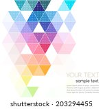 abstract template background... | Shutterstock .eps vector #203294455