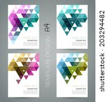 abstract template background... | Shutterstock .eps vector #203294482