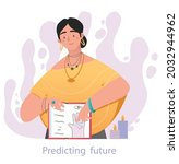 hand divination concept. witch...   Shutterstock .eps vector #2032944962