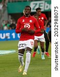 Small photo of Timothy WEAH of Lille during French championship Ligue 1 football match Saint-Etienne vs LOSC Lille 8-21-2021 Geoffroy-Guichard stadium Saint-Etienne France Photo Romain Biard