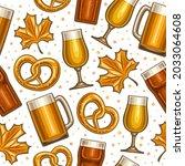 vector oktoberfest seamless... | Shutterstock .eps vector #2033064608