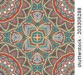 seamless vector indian pattern | Shutterstock .eps vector #203308288