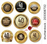 golden anniversary labels  40... | Shutterstock .eps vector #203308732