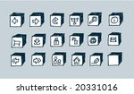 hand drawn sketchy web icons... | Shutterstock .eps vector #20331016