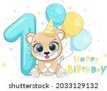 """cartoon illustration """"happy...   Shutterstock .eps vector #2033129132"""
