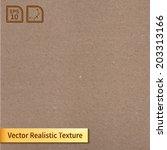 vector cardboard texture.... | Shutterstock .eps vector #203313166