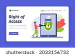 correct access to account....   Shutterstock .eps vector #2033156732
