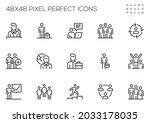 set of vector line icons... | Shutterstock .eps vector #2033178035