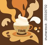coffee time | Shutterstock .eps vector #203320732