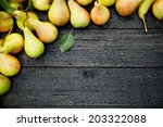 fruit background. fresh organic ... | Shutterstock . vector #203322088