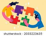 teamwork  collaboration and...   Shutterstock .eps vector #2033223635