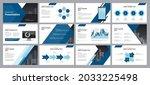 business presentation template...   Shutterstock .eps vector #2033225498
