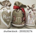 set of the vintage doorstops in ... | Shutterstock . vector #203323276
