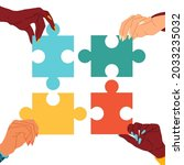 puzzle  general opinion.... | Shutterstock .eps vector #2033235032